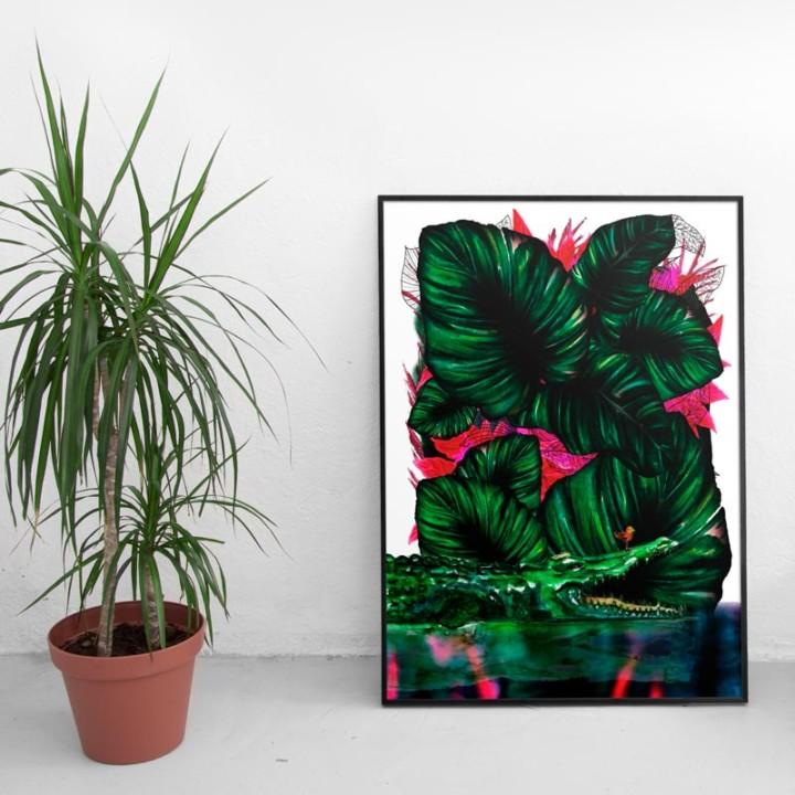 Jungles – Le croco – Juliette Seban – 100 exemplaires