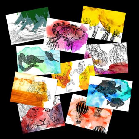 Horde – 10 cartes postales