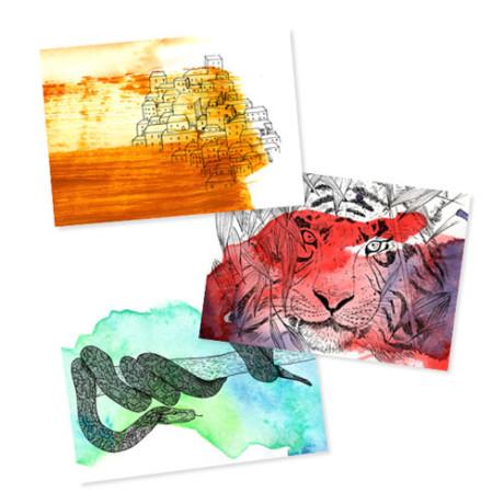 Horde – 3 cartes postales