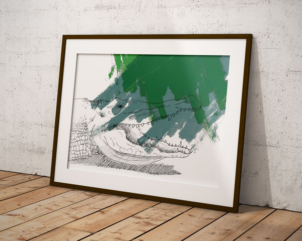 Horde – Le crocodile – Juliette Seban – 80 exemplaires