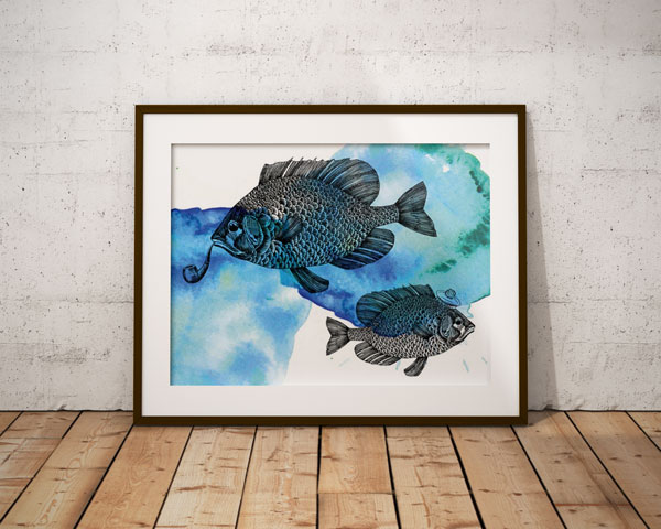 Horde – Les poissons – Juliette Seban – 80 exemplaires