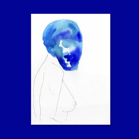 Masques – La femme bleue