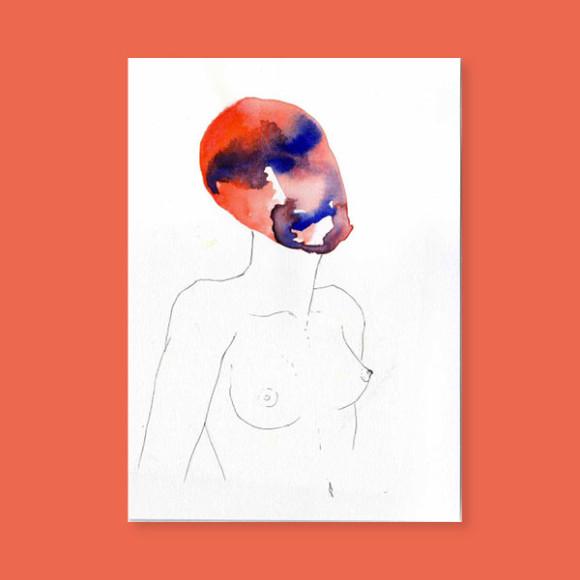 Masques – La femme rouge