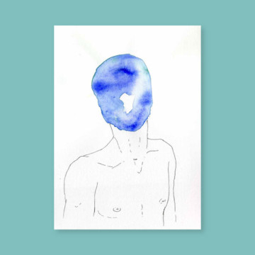 Masques – L'homme bleu