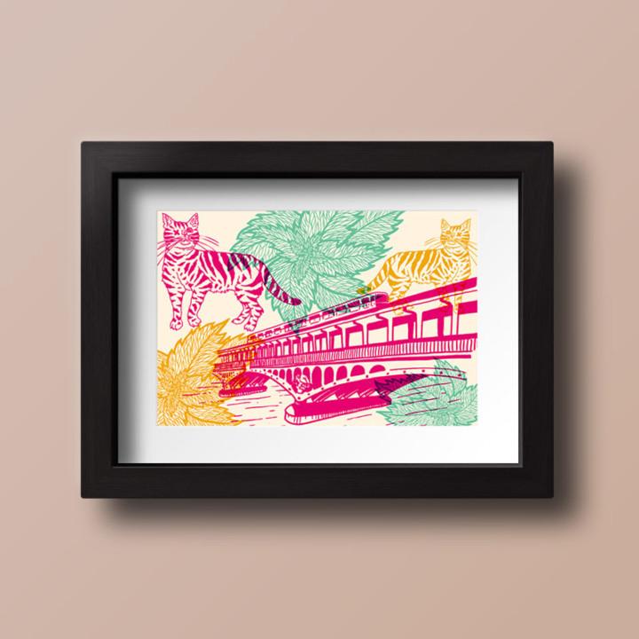 Piquette ou champagne – Cartes postales – Juliette Seban