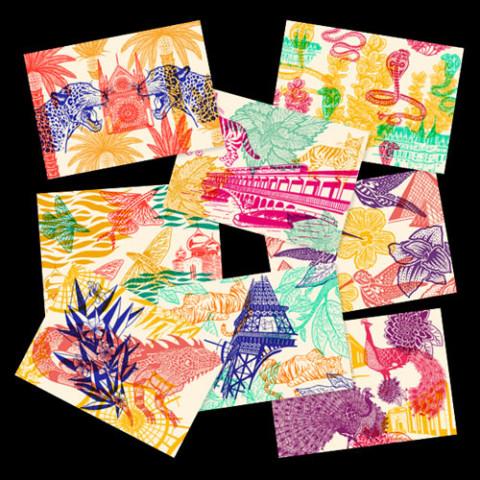 Piquette ou champagne – 8 cartes postales