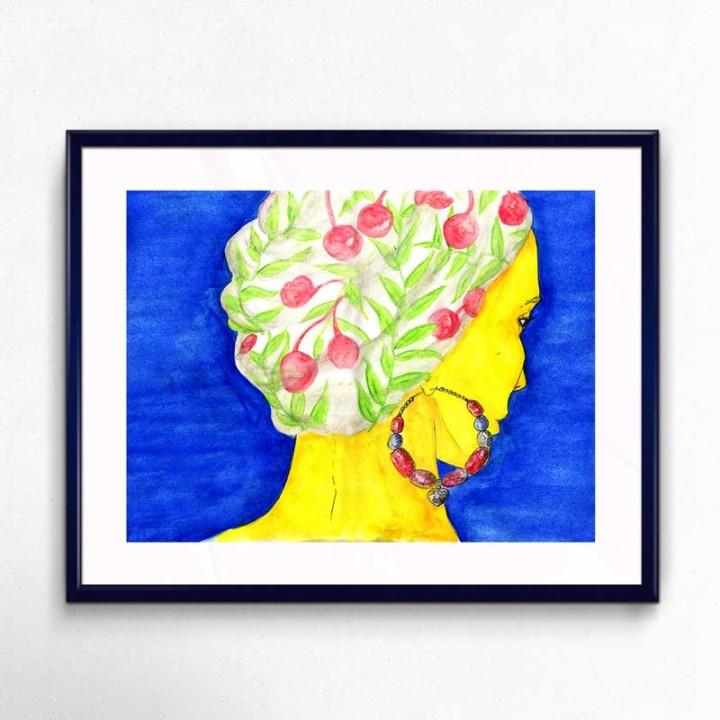 Le foulard – impressions digitales – Juliette Seban