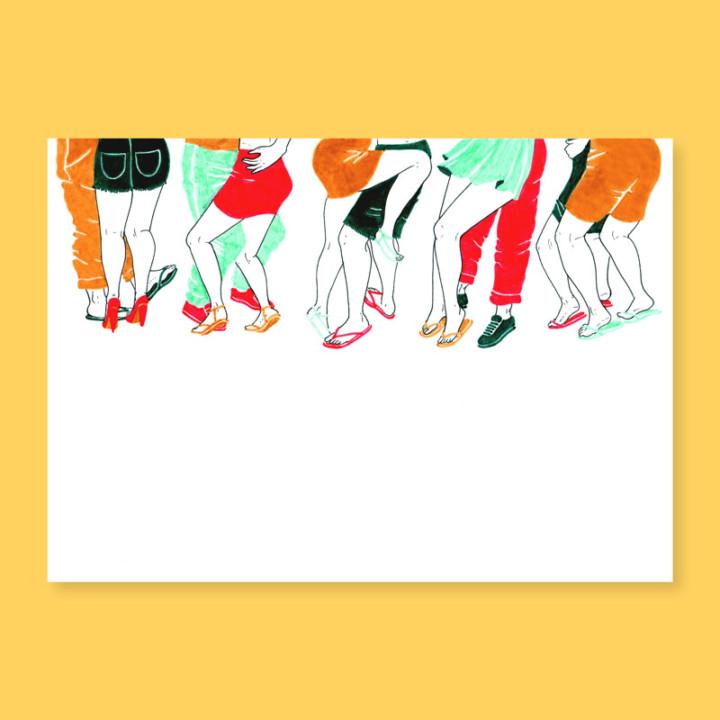 Capurgana, les danseurs – impressions digitales – Juliette Seban