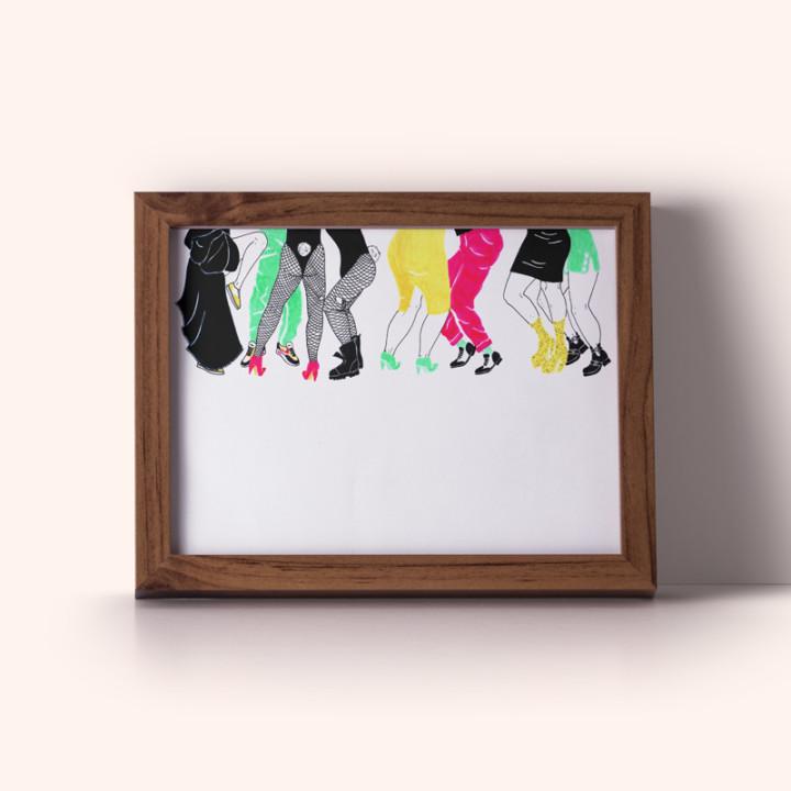 NYC, les danseurs – impressions digitales encadrée – Juliette Seban