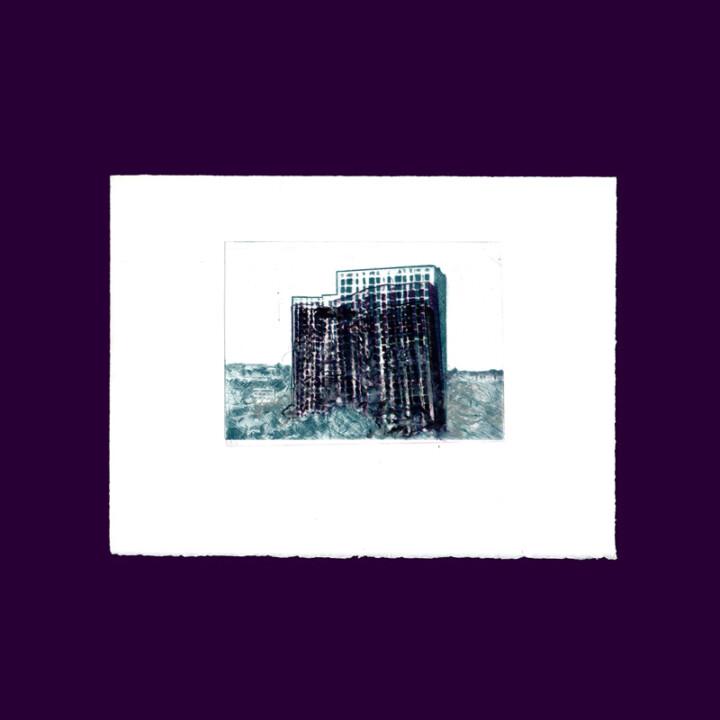 La chute III, gravure – Juliette Seban