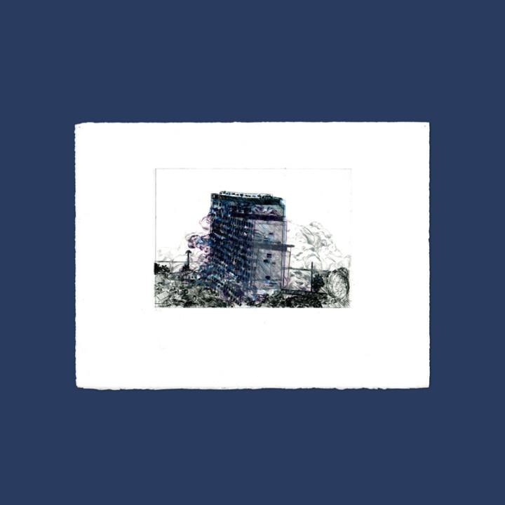 La chute IV, gravure – Juliette Seban